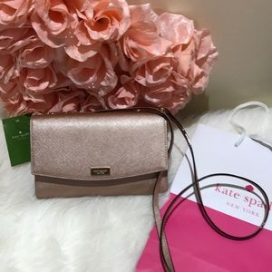 Kate Spade ♠️ rose gold leather Crossbody nwt